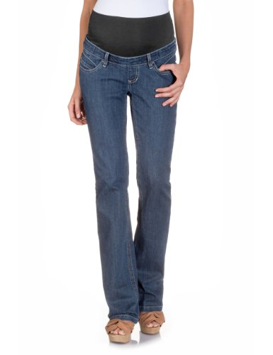 bellybutton Damen Umstandsmode Jeans, 10898-50000, Maya boot cut, Gr. 42/33, Blau (denim)