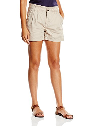 edc by ESPRIT Damen Short 055CC1C019, Gr. 34, Beige (NATURAL BEIGE 277)