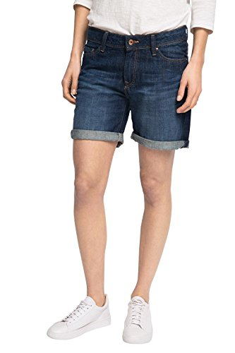 edc by ESPRIT Damen Short 036CC1C005-Im 5 Pocket Stil, Blau (Blue Dark Wash 901), W31