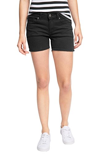 edc by ESPRIT Damen Short 046CC1C016-Im 5 Pocket Stil, Schwarz (Black 001), 38