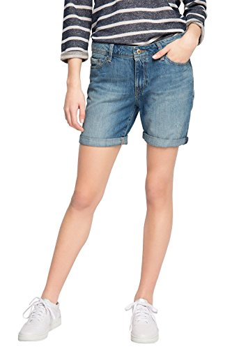 edc by ESPRIT Damen Short im 5 Pocket Stil, Gr. W28, Blau (BLUE MEDIUM WASH 902)