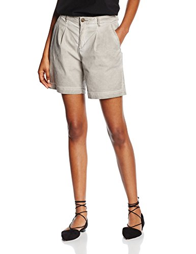 edc by ESPRIT Damen Short 056CC1C015-in Vintage Waschung, Grau (Grey 030), 44