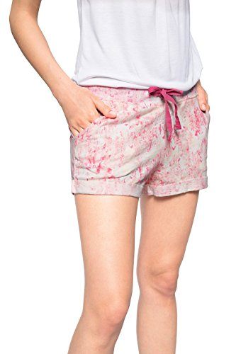 edc by ESPRIT Damen Short jersey, Gr. 34 (Herstellergröße: XS), Rot (RED COLOURWAY 699)