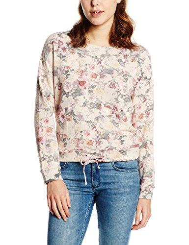 edc by ESPRIT Damen Sweatshirt 036CC1J007-mit Blumenprint, Violett (Lilac 560), 42 (Herstellergröße: XL)