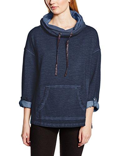 edc by ESPRIT Damen Sweatshirt mit Rollkragen, Gr. 38 (Herstellergröße: M), Blau (NAVY 400)