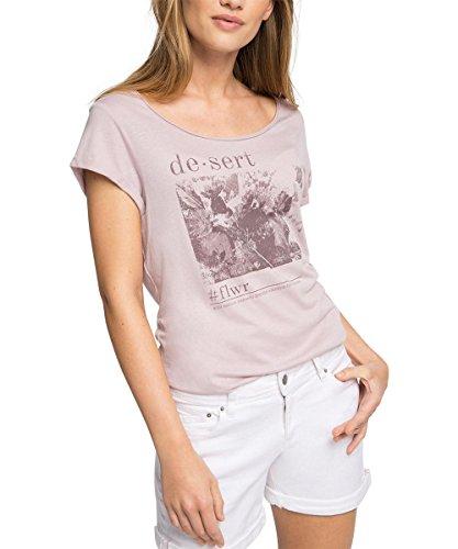 edc by ESPRIT Damen T-Shirt 046CC1K001, Gr. 38 (Herstellergröße: M), Violett (LAVENDER 570)