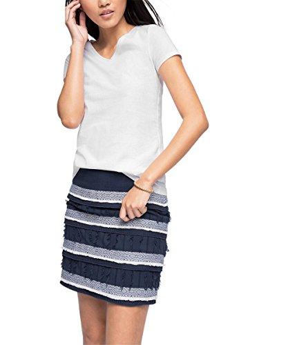 edc by ESPRIT Damen T-Shirt 046CC1K049-Basic, Weiß (White 100), 38 (Herstellergröße: M)