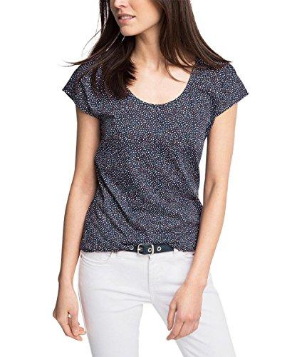 edc by ESPRIT Damen T-Shirt 046CC1K024-mit Rückendetails, Blau (Navy 2 401), 42 (Herstellergröße: XL)