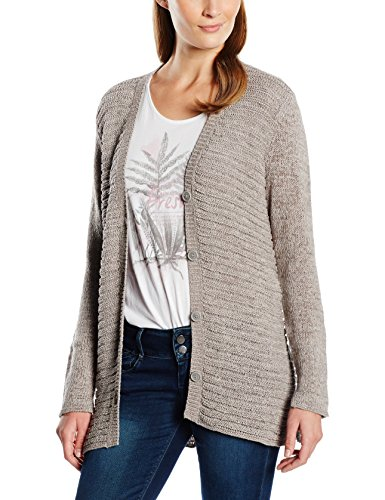 edc by Esprit Damen Strickjacke Gr. Large, Grau - Grau