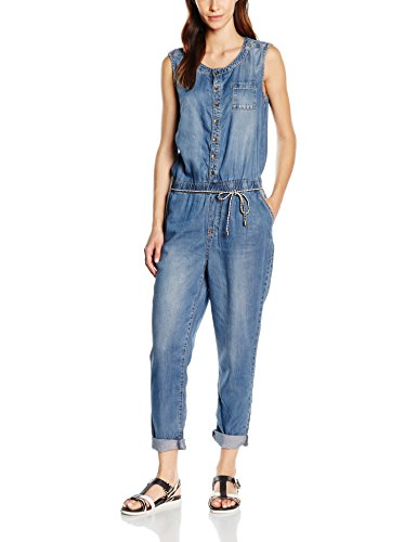 s.Oliver Damen Jumpsuits 14.604.85.4648, Blau (Blue Denim Stretch 55Z7), W32 (Herstellergröße: 42)