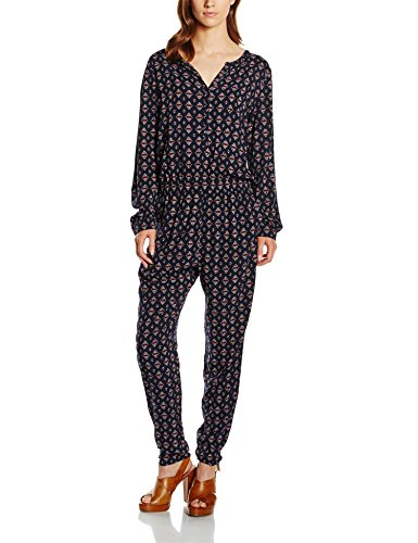 s.Oliver Damen Relaxed Jumpsuits All Over, Gr. 38, Mehrfarbig (navy floral print 59C2)