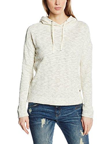 s.Oliver Damen Sweatshirt mit Kapuze, Gr. 42, Elfenbein (creme melange 02W0)