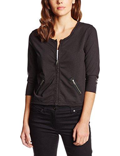 Q/S designed by - s.Oliver Damen Sweatshirt 41.603.43.5120, Schwarz (Black 9999), 38 (Herstellergröße: M)