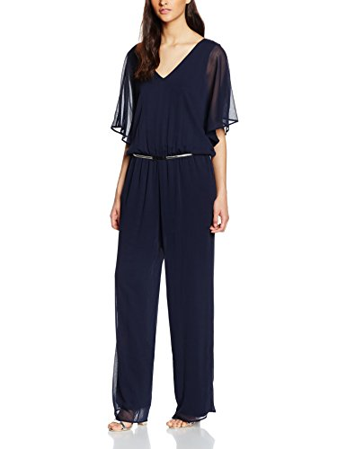 s.Oliver BLACK LABEL Damen Jumpsuits 29.605.85.4616, Blau (Indigo 5958), 40