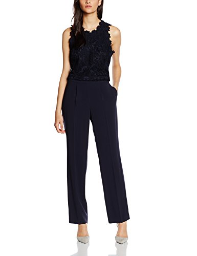 s.Oliver BLACK LABEL Damen Jumpsuits 29.605.85.4614, Blau (Indigo 5958), 38