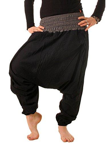 vishes Goa Hose Haremshose Harem Pant Sommerhose Pumphose Pluderhose schwarz Größe 34 bis 44