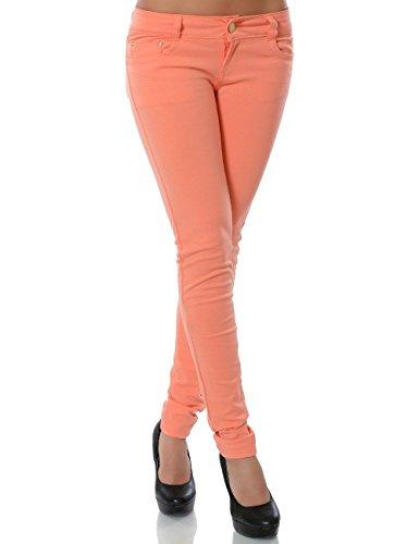 Damen Hose Treggings Skinny Röhre (weitere Farben) No 13011, Größe:M 38;Farbe:Lachs