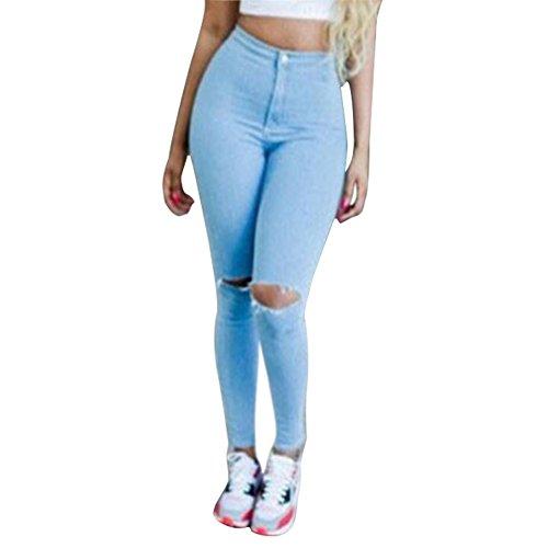 West See Frauen Denim Dünn Hohe Taillen Jeans Bleistifthose Hose (S)