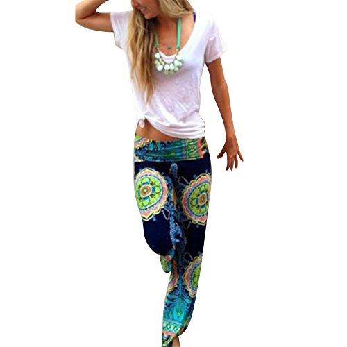 West See Frauen-Harem Kausal Wide Leg Yoga lose lange Palazzo Hosen Hosen Baggy (40, mehrfabrig)