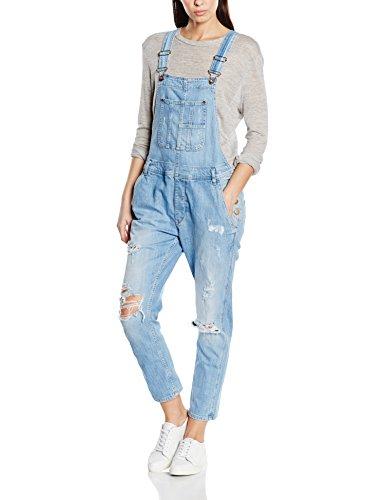 Pepe Jeans Damen, Latz, Overall, SLATE, GR. 38 (Herstellergröße: M), Blau (denim)