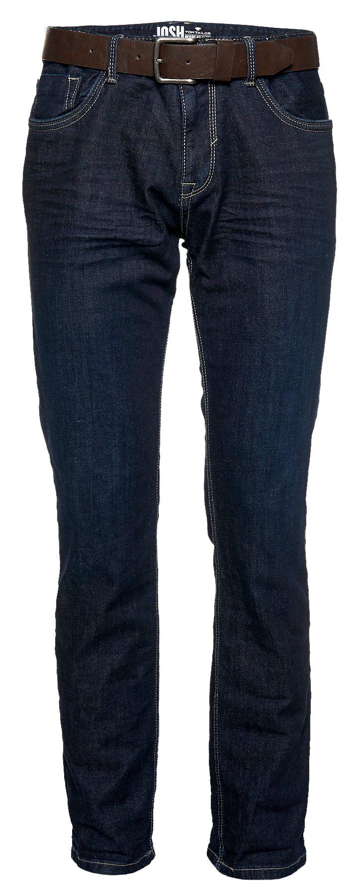TOM TAILOR Jeans »Josh regular slim with belt«