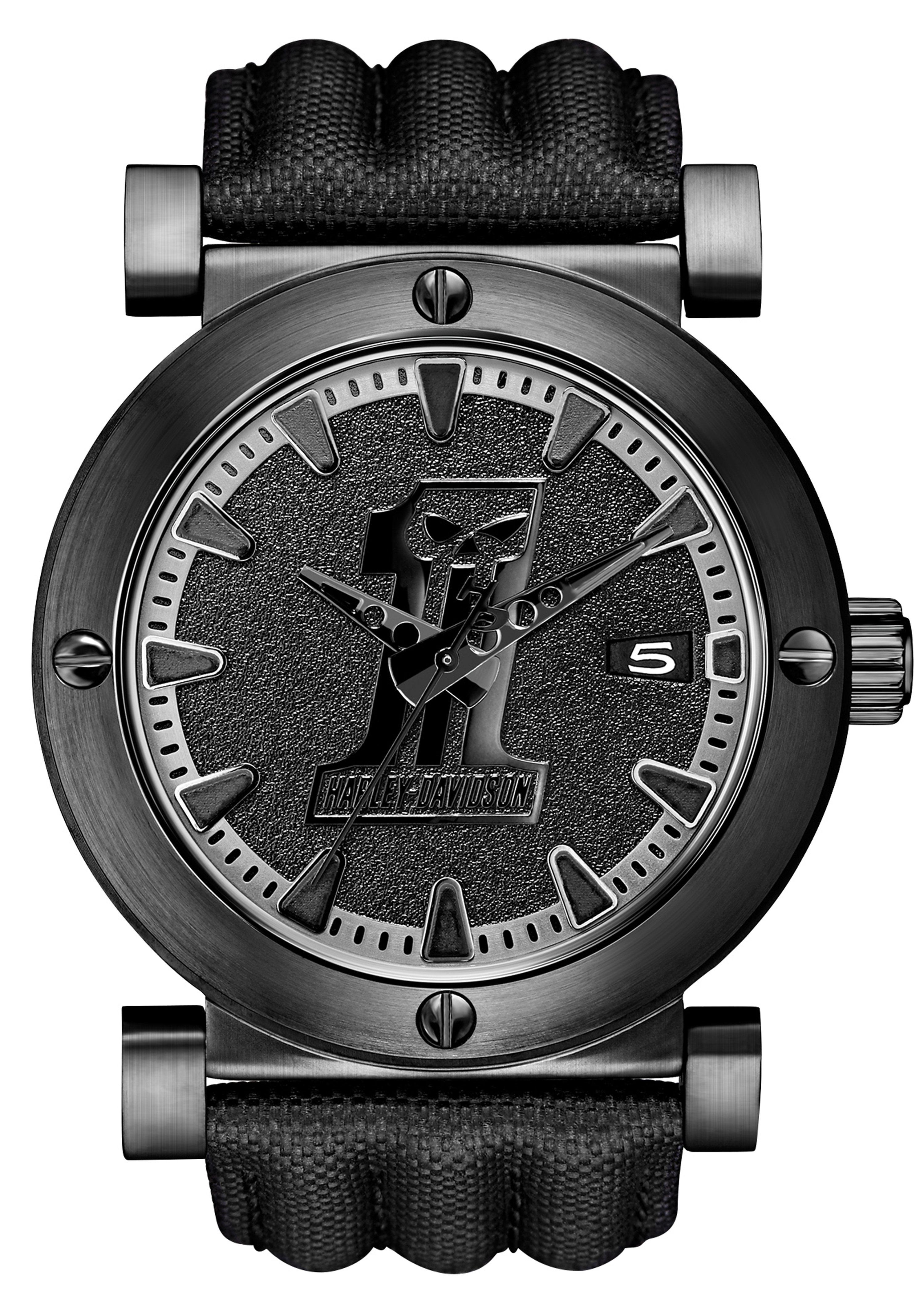 Harley Davidson, Armbanduhr, ´´Black Label, 78B131´´