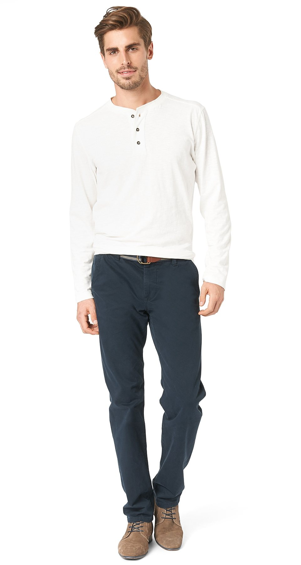 TOM TAILOR Hose »chino pants with belt«
