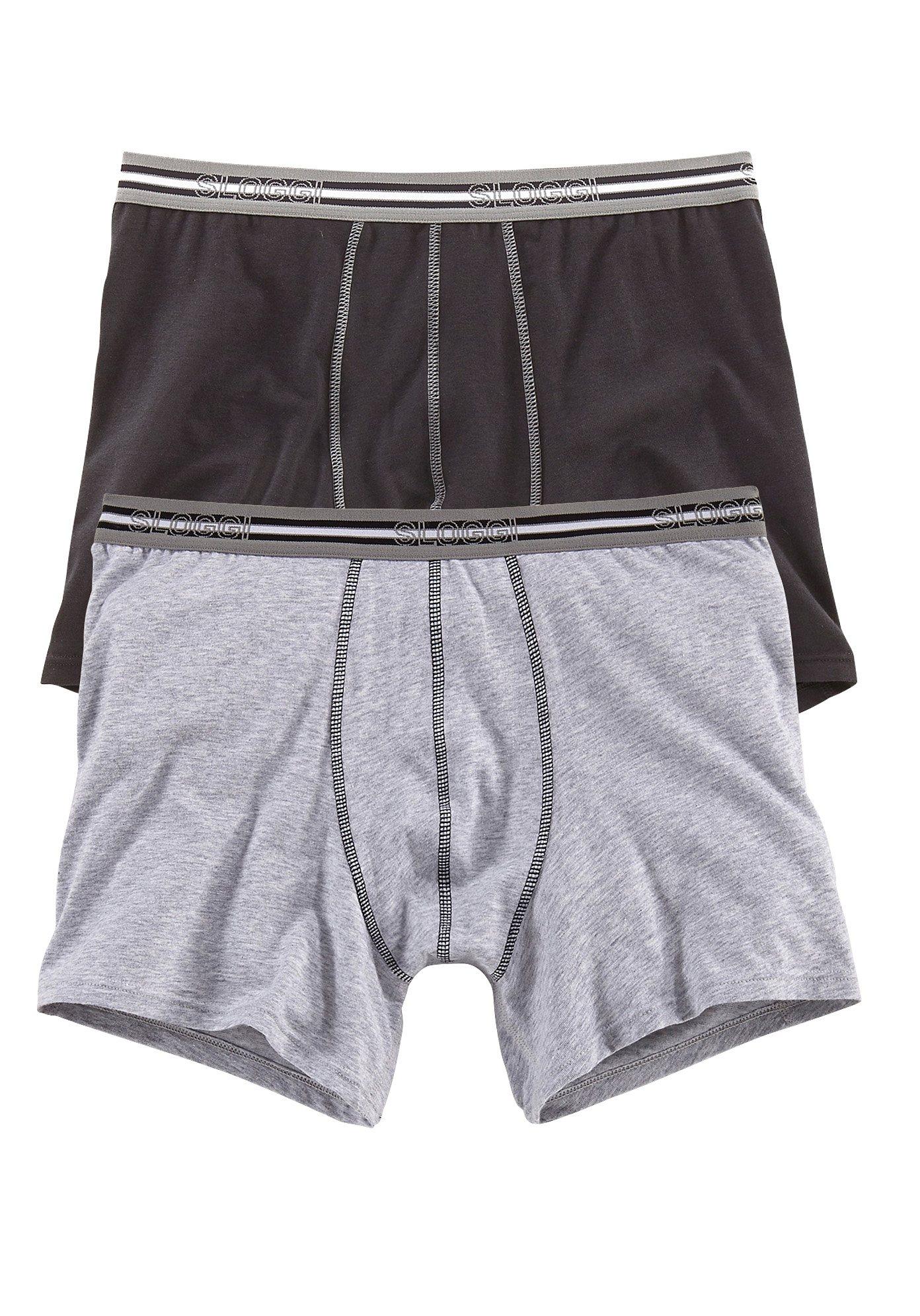 Sloggi, Boxer (2 Stück), moderne Retro Pants in normaler Passform, tolle Baumwoll-Stretch-Qualität