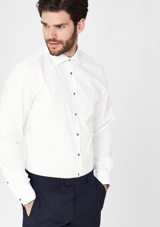 s.Oliver PREMIUM Modern Fit: Hemd mit Kontrast-Knöpfen