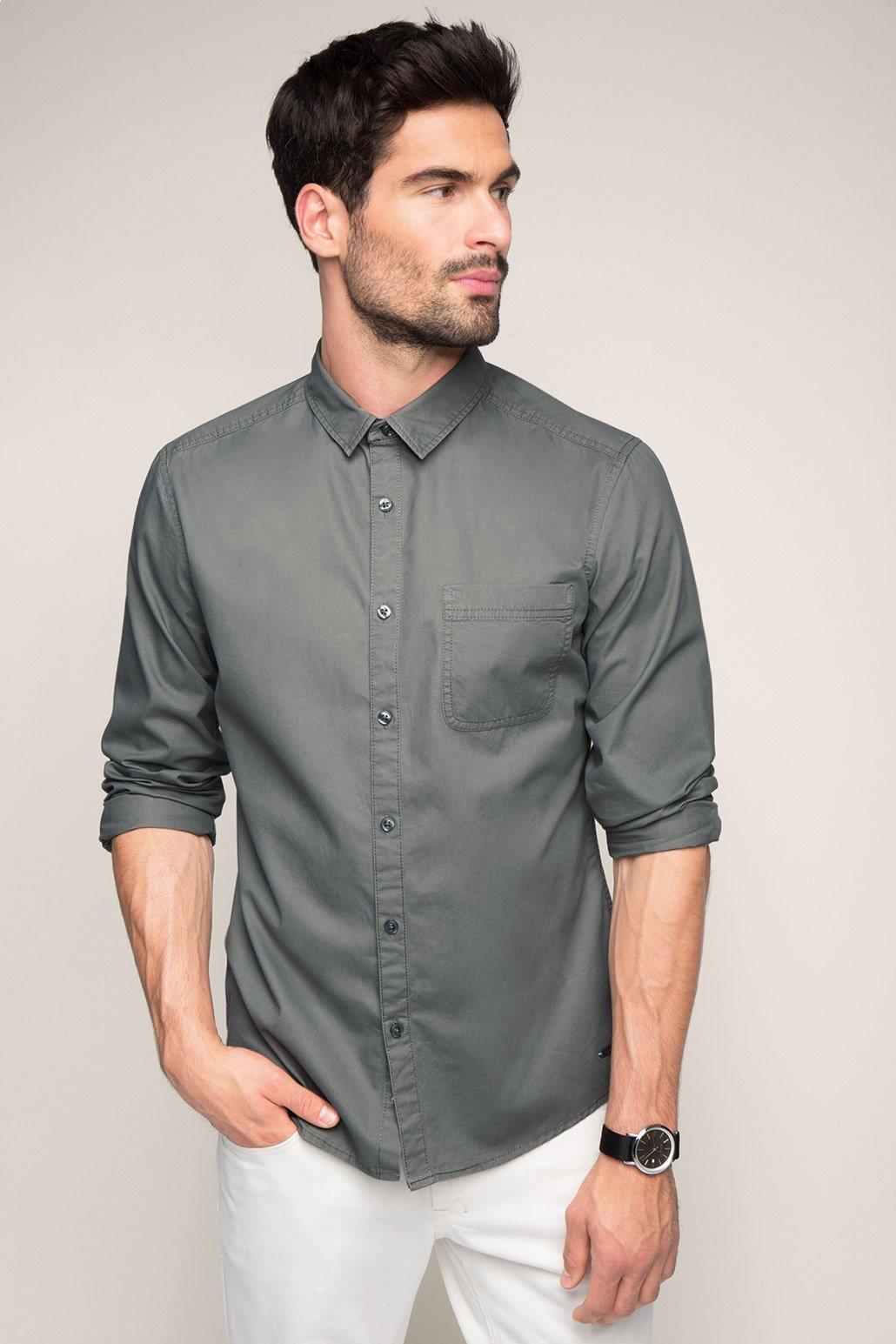 EDC Basic Hemd, 100%Baumwolle