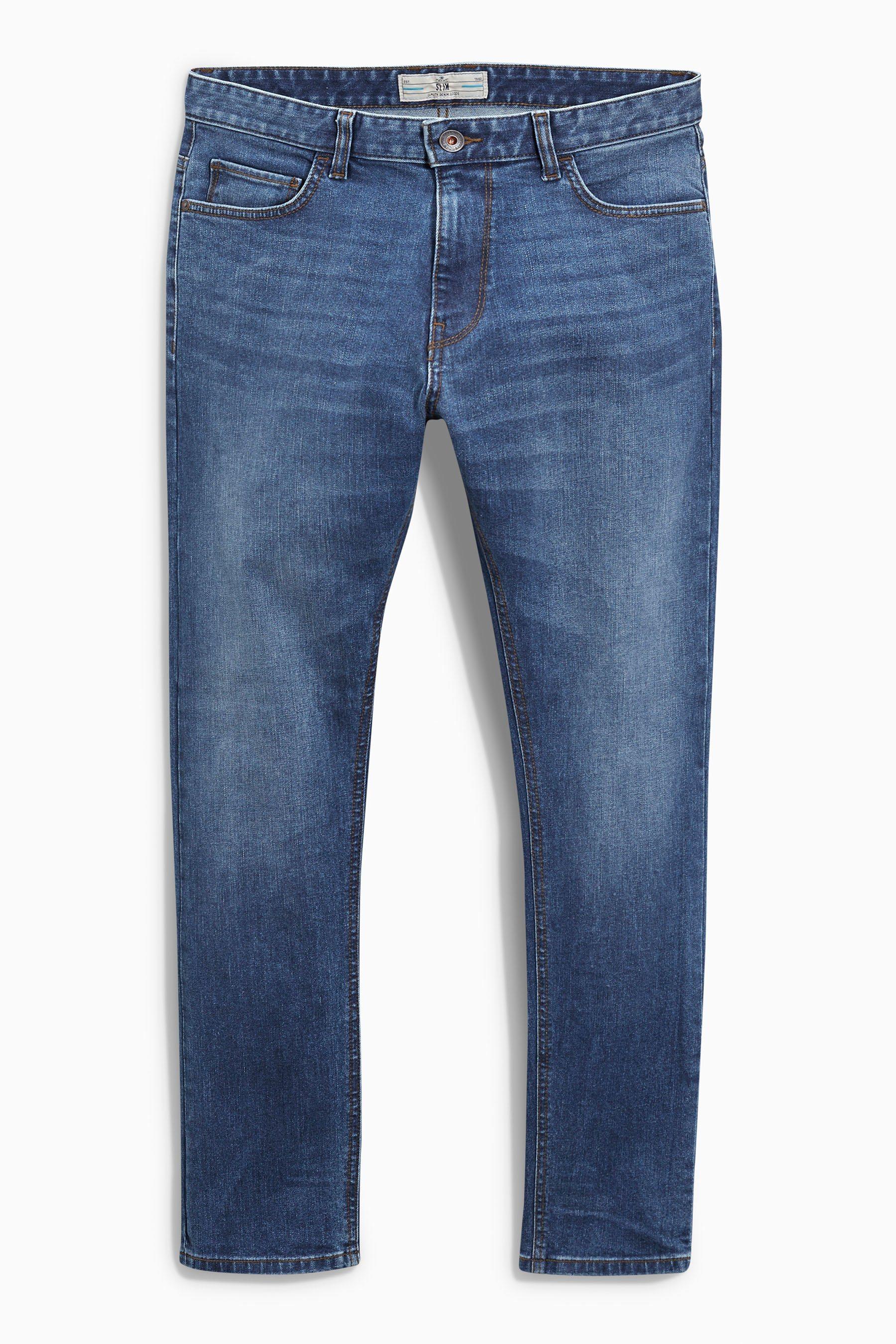 Next Slim-Fit Bright Blue Stretch-Jeans