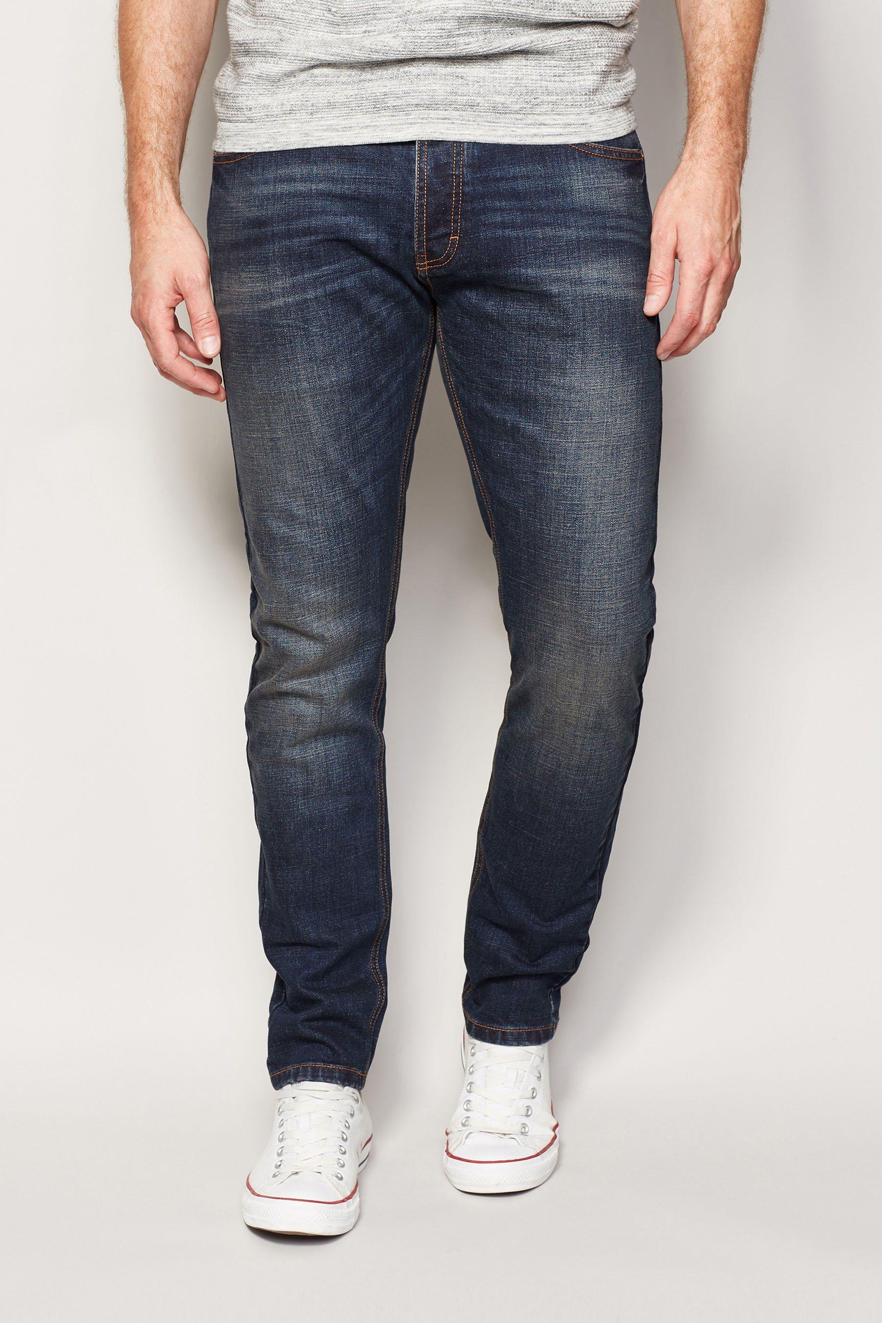 Next Skinny-Fit Dirty Denim Stretch-Jeans
