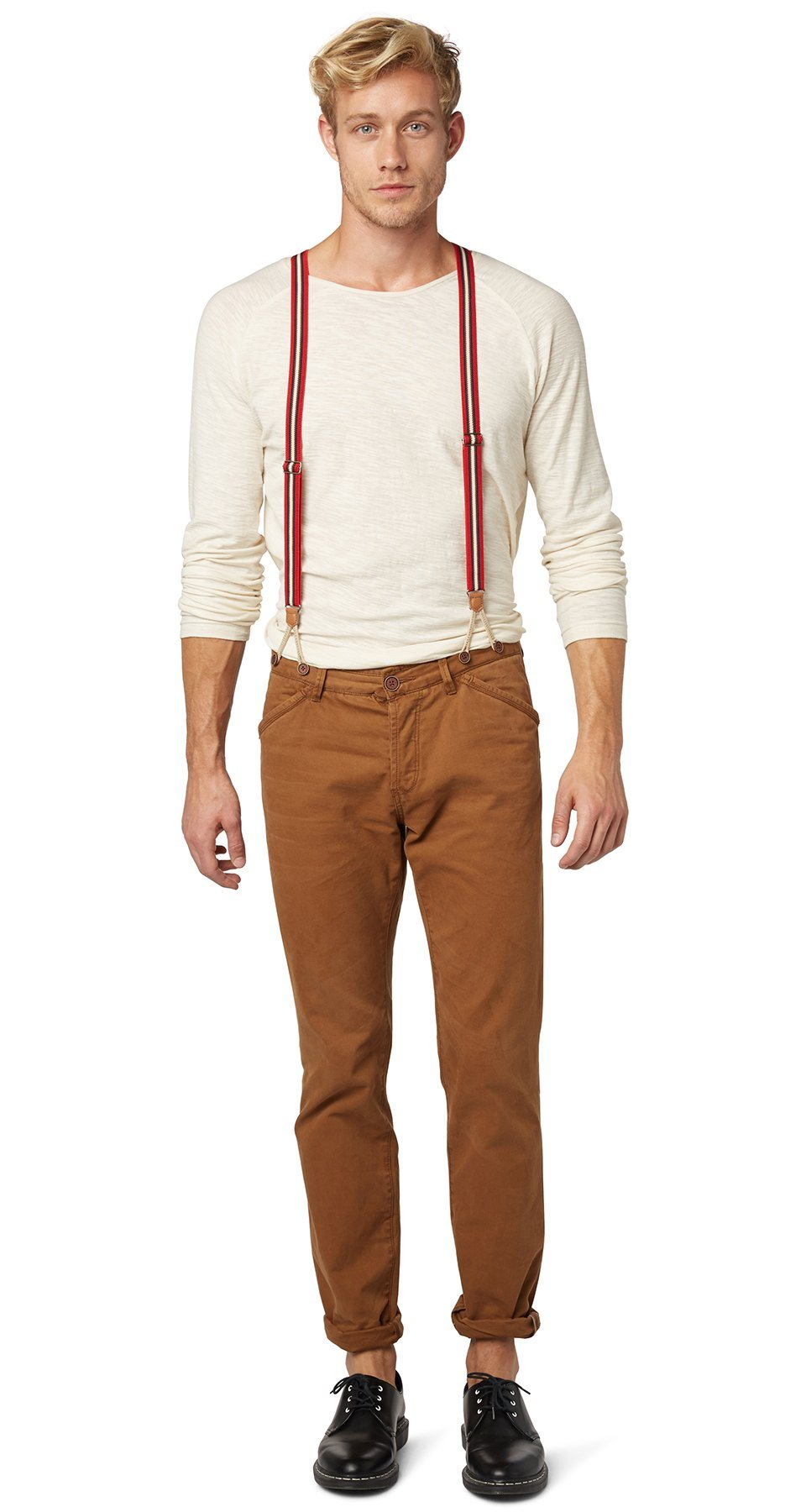 TOM TAILOR DENIM Hose »workwear chino with suspenders«