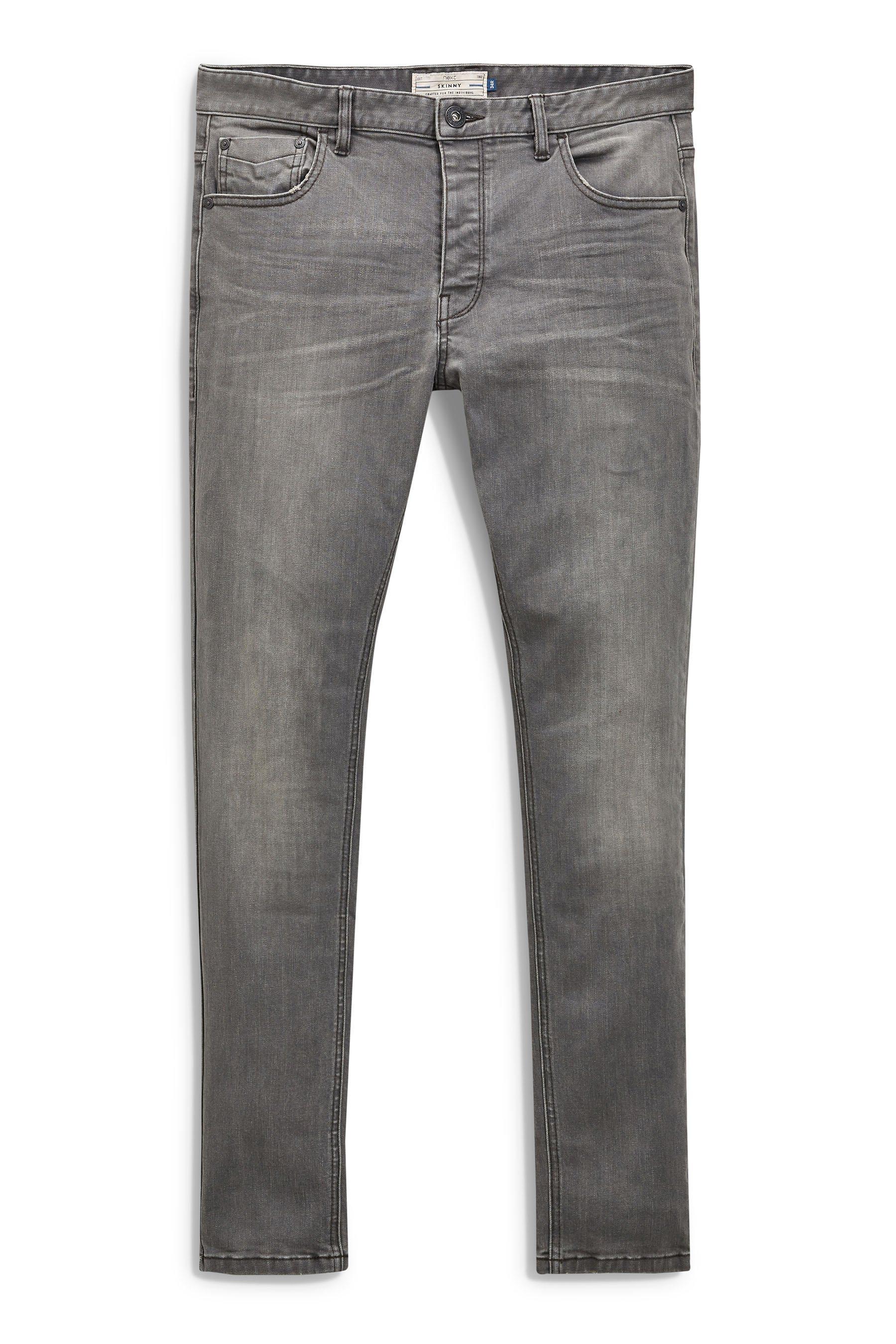 Next Slim-Fit Mid Grey Stretch-Jeans