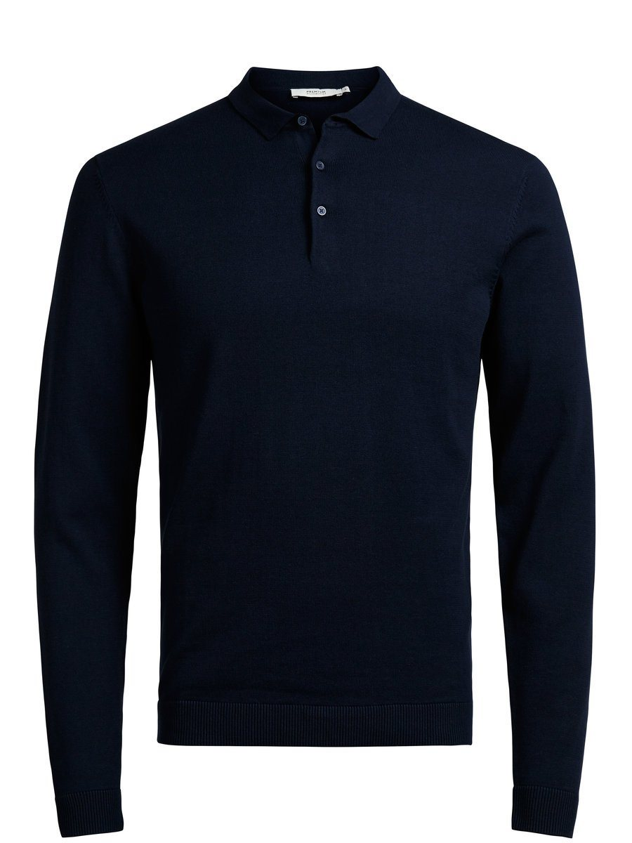 Jack & Jones Langärmeliges Strick- Poloshirt