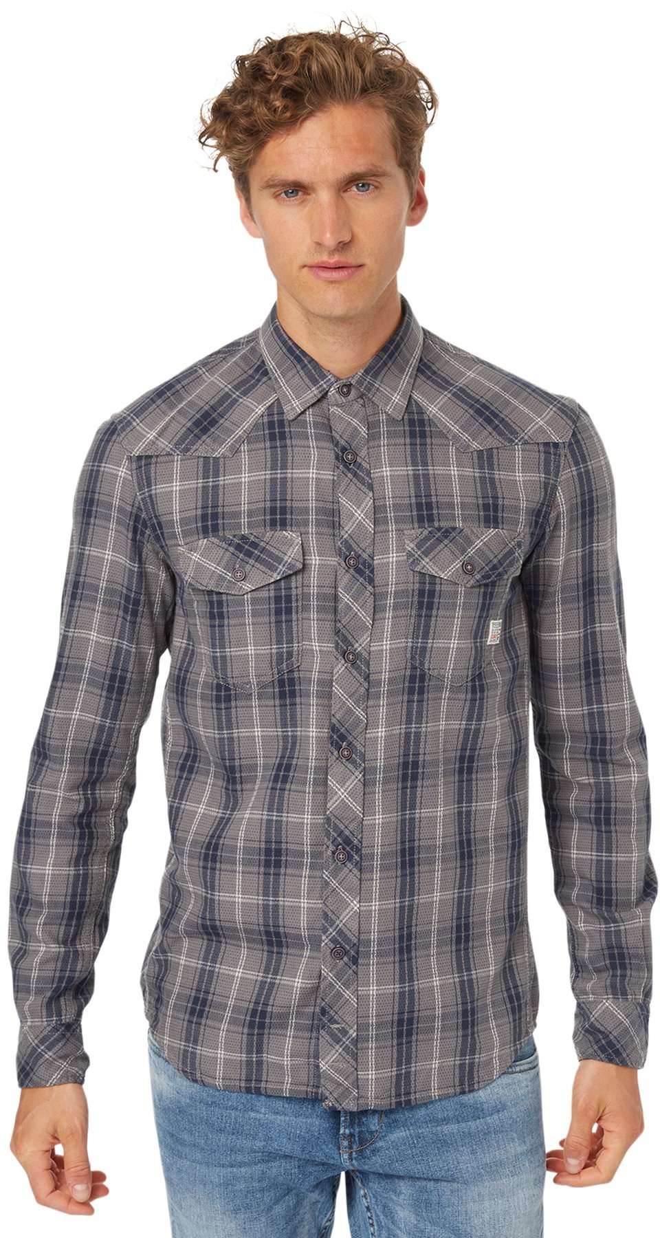 TOM TAILOR DENIM Hemd »tartan dobby checked shirt«