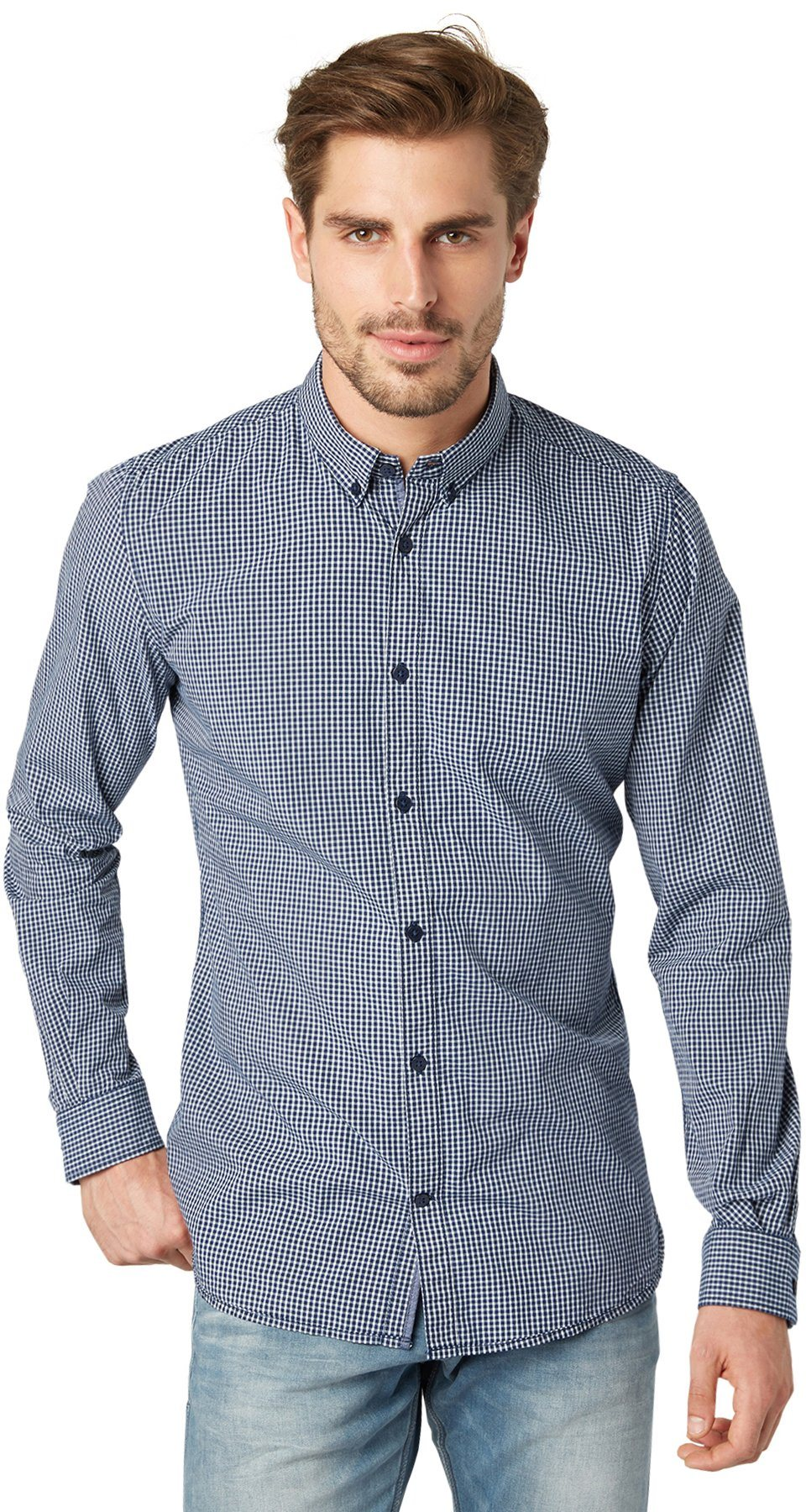 TOM TAILOR Hemd »Floyd soft small check shirt«