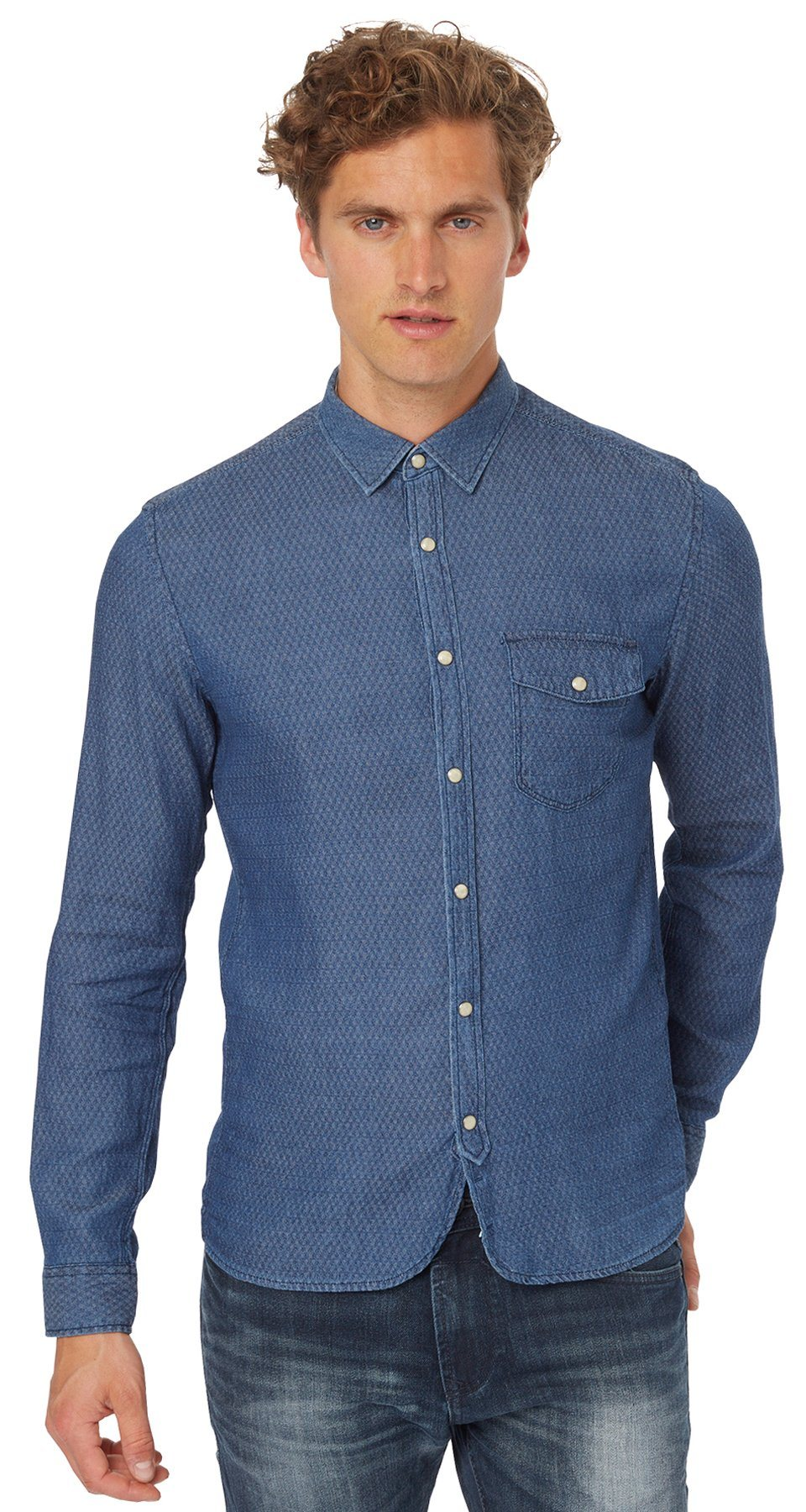 TOM TAILOR DENIM Hemd »rich indigo shirt«