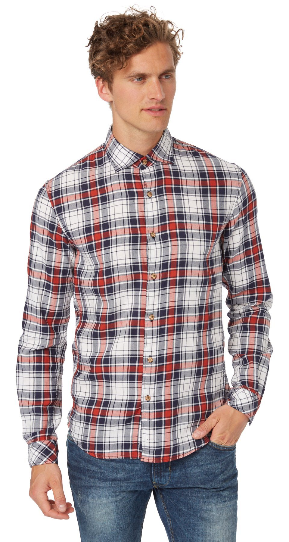TOM TAILOR DENIM Hemd »four different checked shirt«