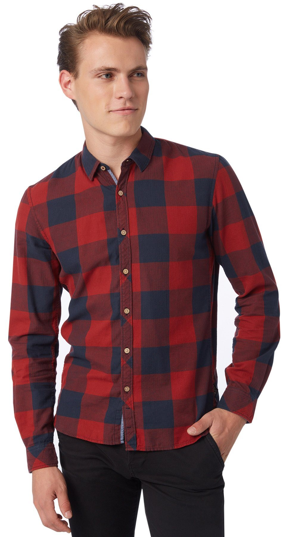 TOM TAILOR DENIM Hemd »six different checked shirt«