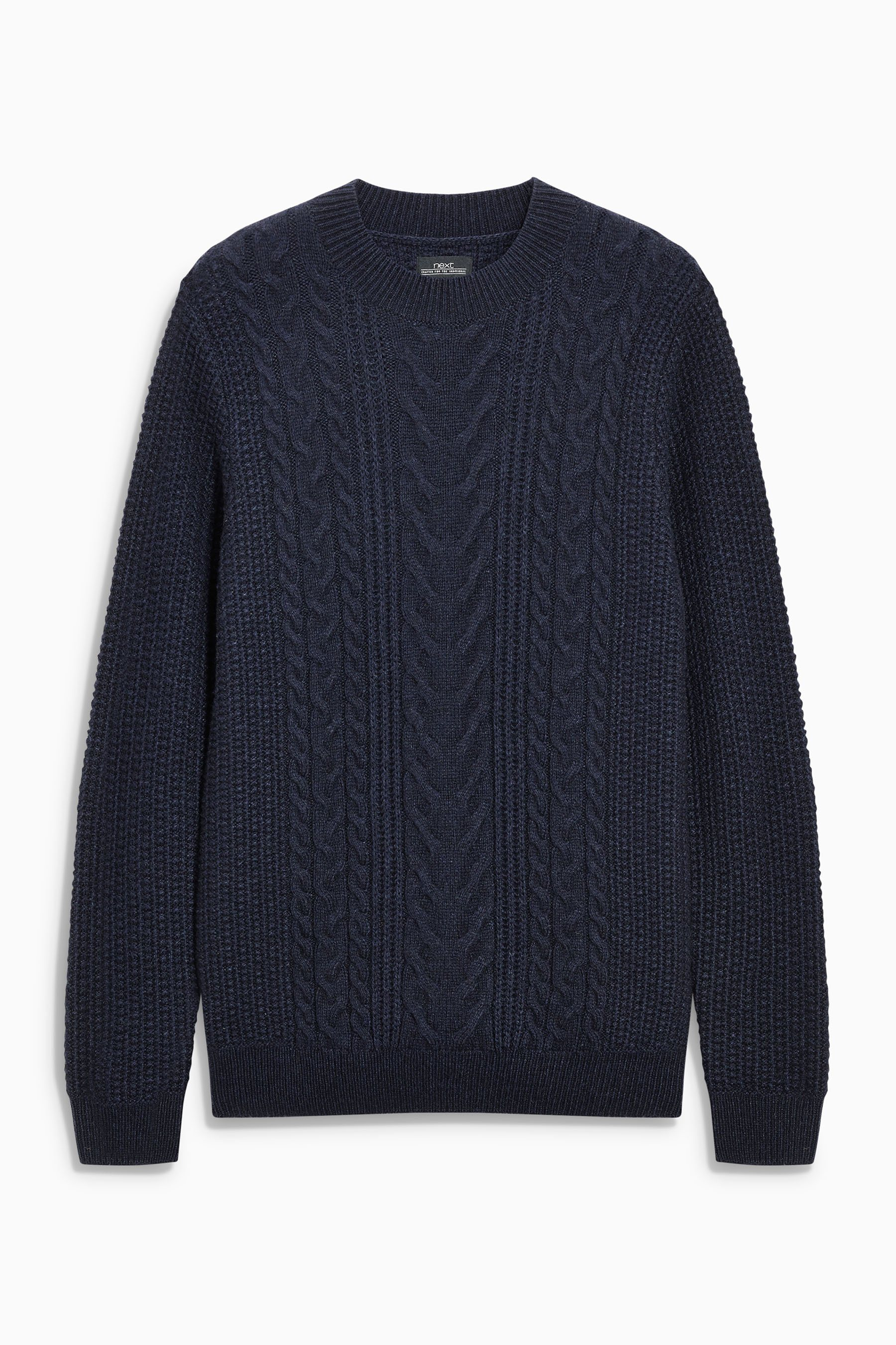 Next Pullover mit Zopfmuster und Rundhalsausschnitt