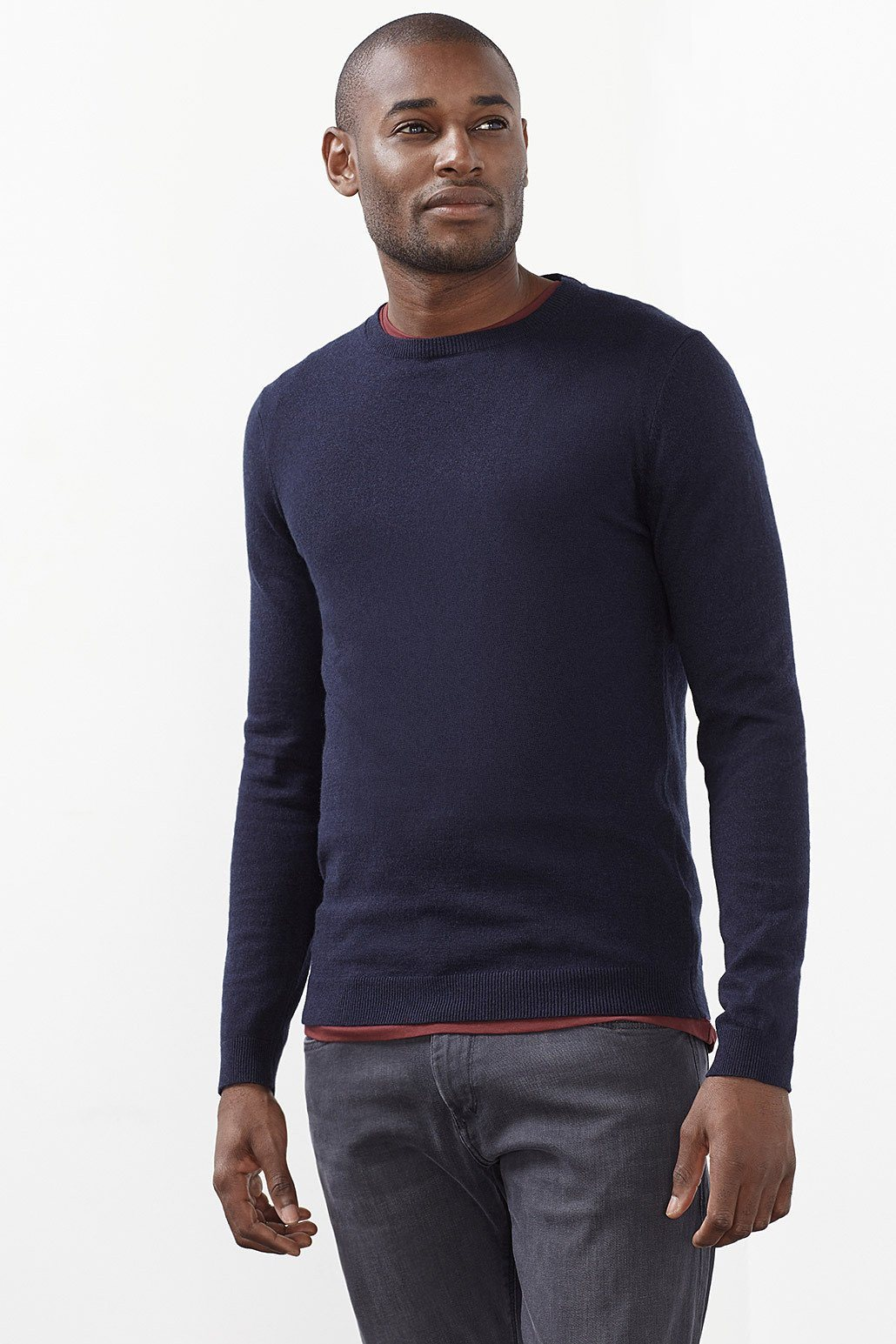 ESPRIT COLLECTION Basic Pulli aus Baumwoll-Mix mit Kaschmir