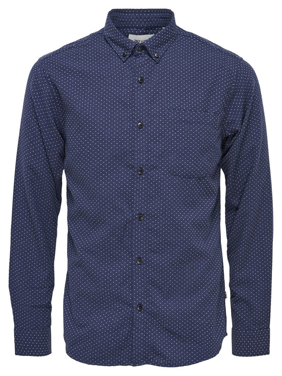 ONLY & SONS Detailliertes Langarmhemd