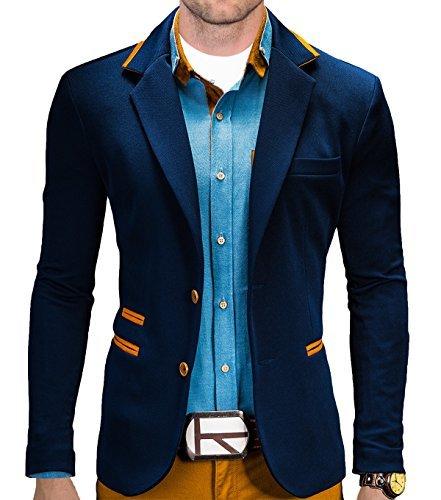 BetterStylz Juan Herren Sakko Jacket Blazer Freizeit Buisiness Jacke Slimfit Größen (S-XL) (XXL, Night Blue)