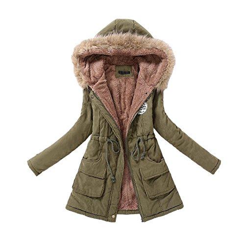 cravog mantel damen parka kapuzejacke lady fit wintermantel warm jacke mit pelz mode outlet online. Black Bedroom Furniture Sets. Home Design Ideas