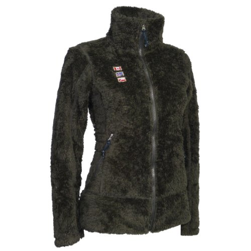 Details zu KILLTEC JAMALI CASUAL 2 SIDE WOMEN 2013/14 Damen Teddy Fleece Jacke 22395 (Grey/GREEN (grau/grün), 42)