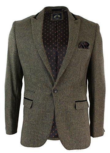 Herrensakko und Weste Grau Braun Separat Verkauft Eng Tailliert Vintage Design