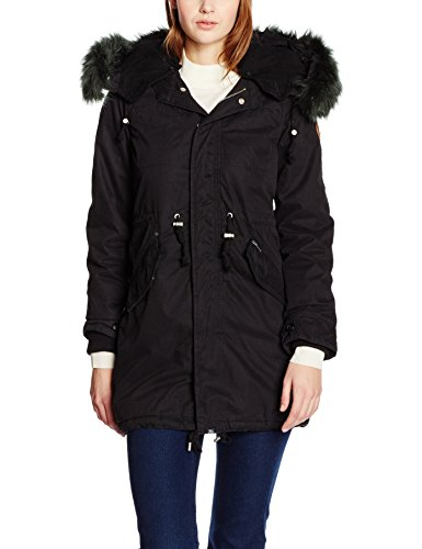 Khujo Damen Parkas Methone, Schwarz (Black 200), Medium