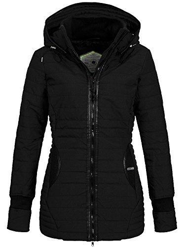 Khujo Midd Damen Winterjacke schwarz, Größe:L