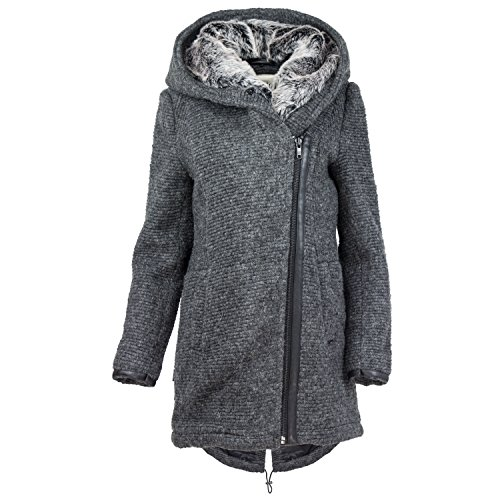 khujo nofretete damen herbst winter jacke 7 xl. Black Bedroom Furniture Sets. Home Design Ideas